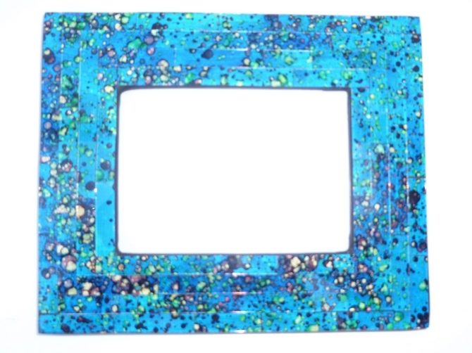 Home and Garden - Turquoise Mosaic Tile Photo Frame